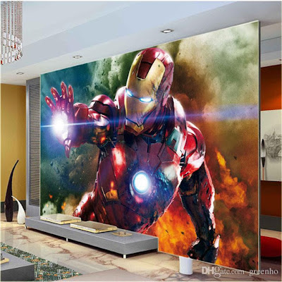 cool tapet iron man avengers marvel fototapet coola tapeter ungdomsrum