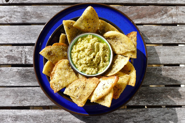 Green Olive Tapenade with Pita Chips