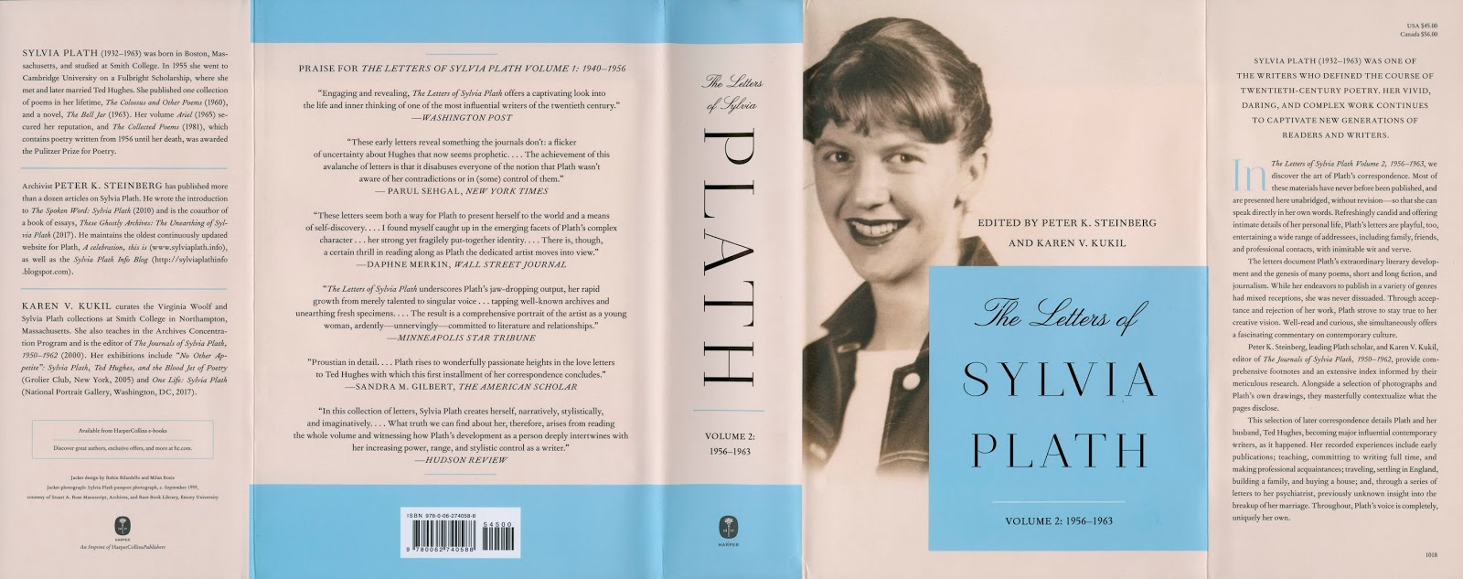 the letters of sylvia plath volume 2 1956 1963 published today