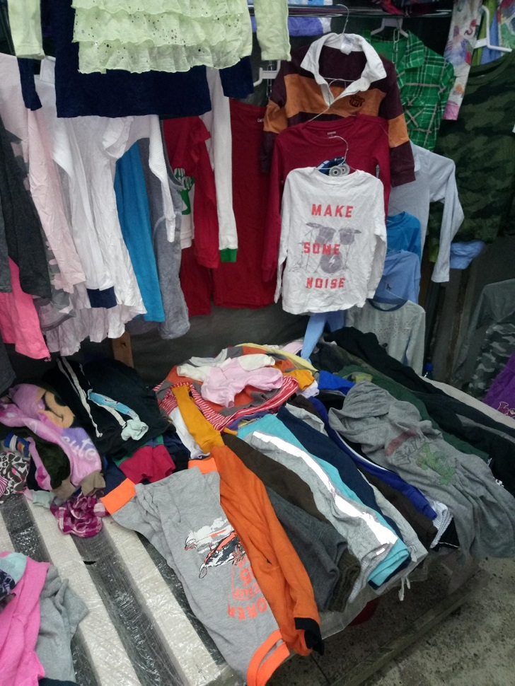 Cheap and trendy second-hand clothes 'mitumba' in Nairobi, Kenya