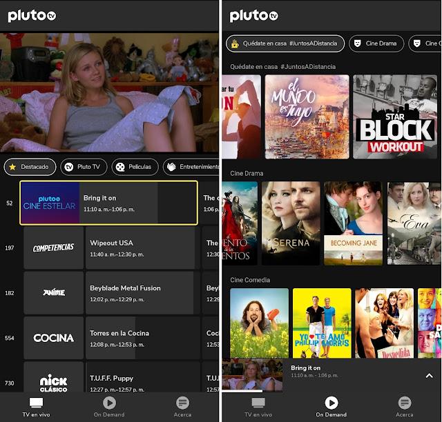 Televisión por internet y películas gratis