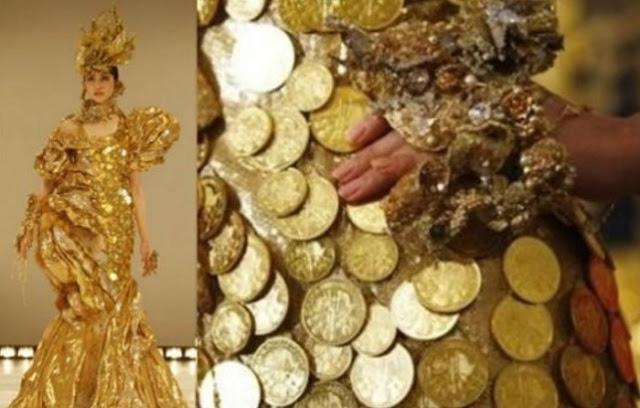 Ginza Tanako e seus vestidos de ouro