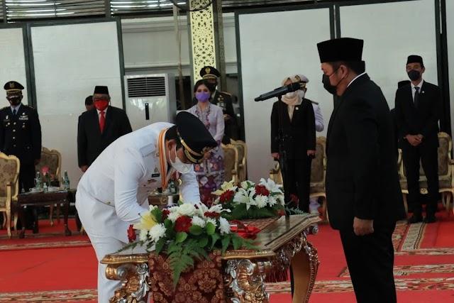 Bupati-Wakil Bupati OKU Selatan Telah Dilantik Oleh Gubernur Sumsel