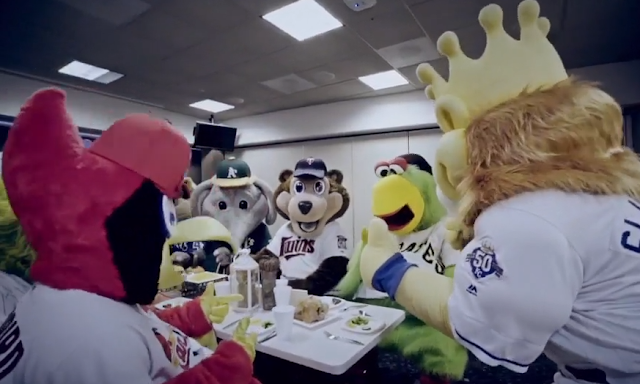 MLB Mascot Thanksgiving