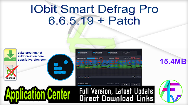 IObit Smart Defrag Pro 6.6.5.19 + Patch