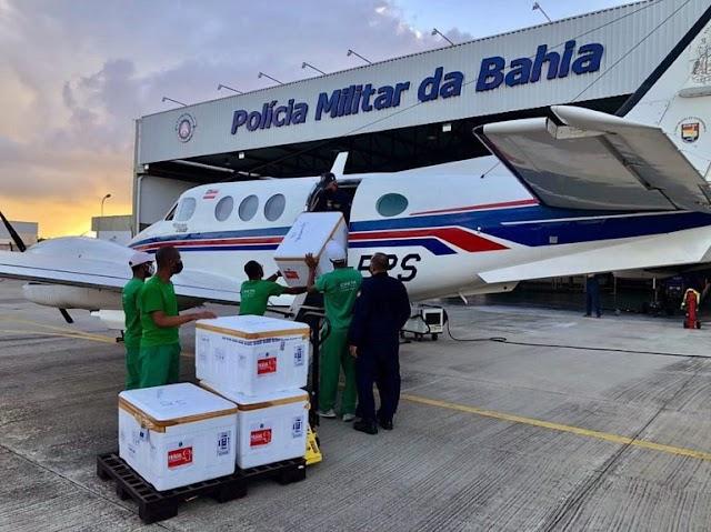 Nova remessa de vacinas contra a Covid-19 chega à Bahia