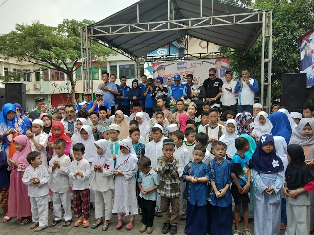 DPC Partai Demokrat Depok Santuni Puluhan Anak Yatim