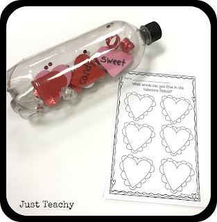 Valentine Sight Word Bottle