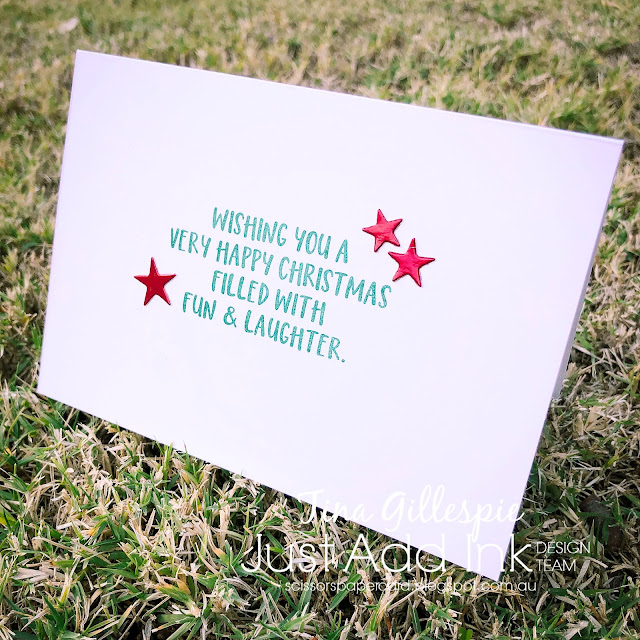 scissorspapercard, Stampin' Up!, Just Add Ink, Stitched Stars Dies, Christmas Greetings Thinlits, Joy To The World Paper Pumpkin, Christmas