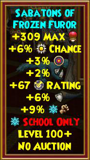 Wizard101 Darkmoor Gear Drops - Best Level 100+ Gear