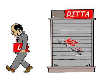bersani, la ditta, assemblea PD, scissione PD, vignetta, satira