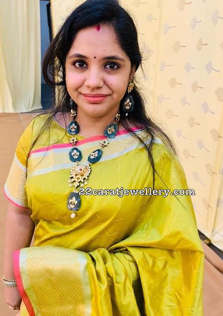 Saindhavi Green Beads Haram