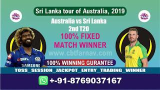2nd T20 Aus vs SL Today Match Prediction Sri Lanka tour of Australia, 2019