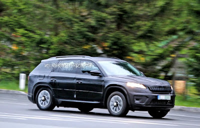 2017 Skoda Kodiaq Spy Shots Road Test