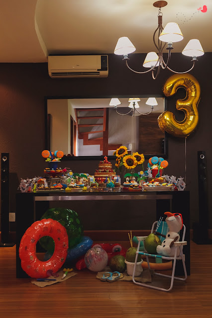 Decoração festa Olaf