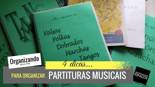4 maneiras de organizar suas partituras musicais