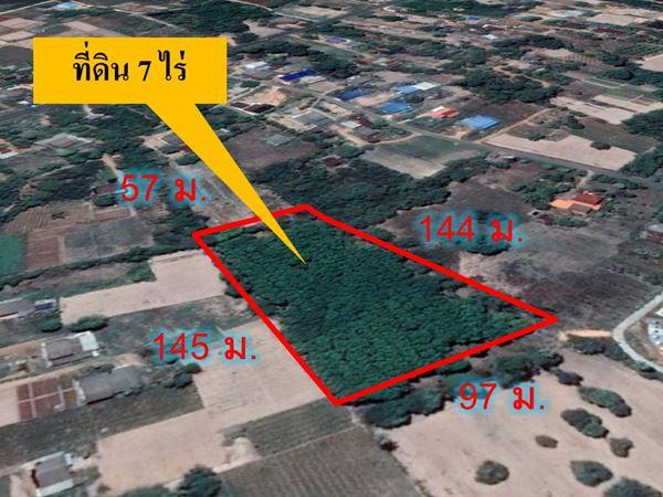 ขายที่สวนยางพารา ในเขตชุมชน 7 ไร่ ใกล้ตัว อ.พนมสารคาม จ.ฉะเชิงเทรา