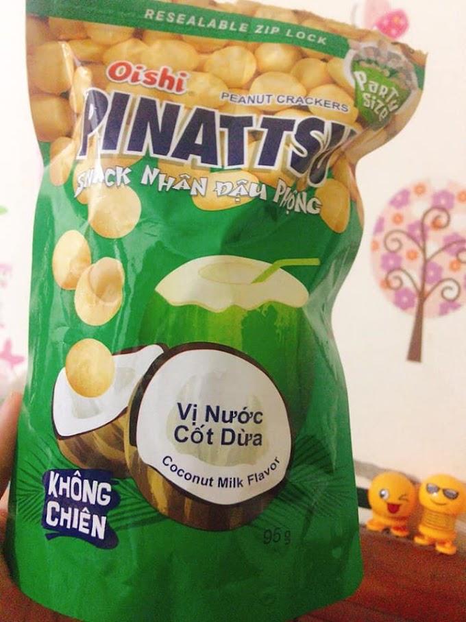 Review Snack nhân đậu phộng Oishi