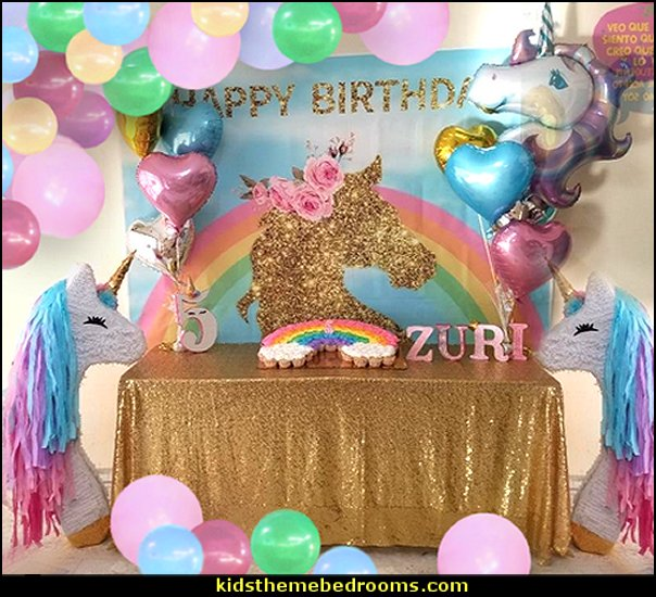 unicorn backdrop   unicorn party supplies - rainbow unicorn party decorations - unicorn birthday party - Unicorn Themed Party -  Unicorn Balloons  -  unicorrn cupcakes - rainbow decorations - Unicorn  Garlands - sequin tablecloth - tutu table skirt -