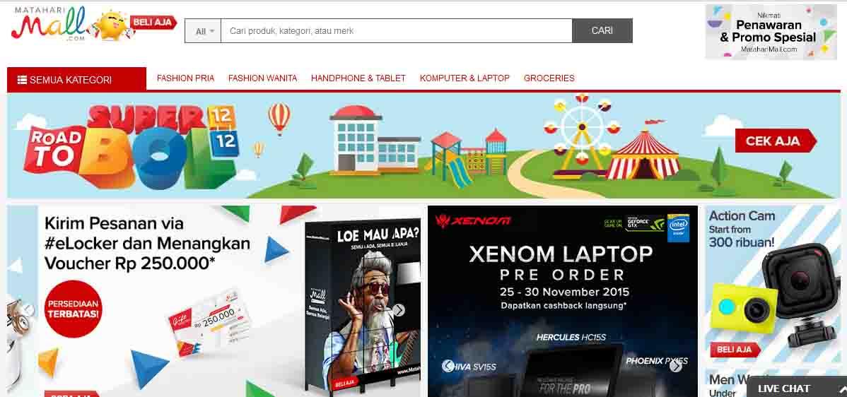 Yuk.. Mari Berbelanja Online di Mataharimall.com Mumpung Lagi ada Cuci Gudang Akhir Tahun