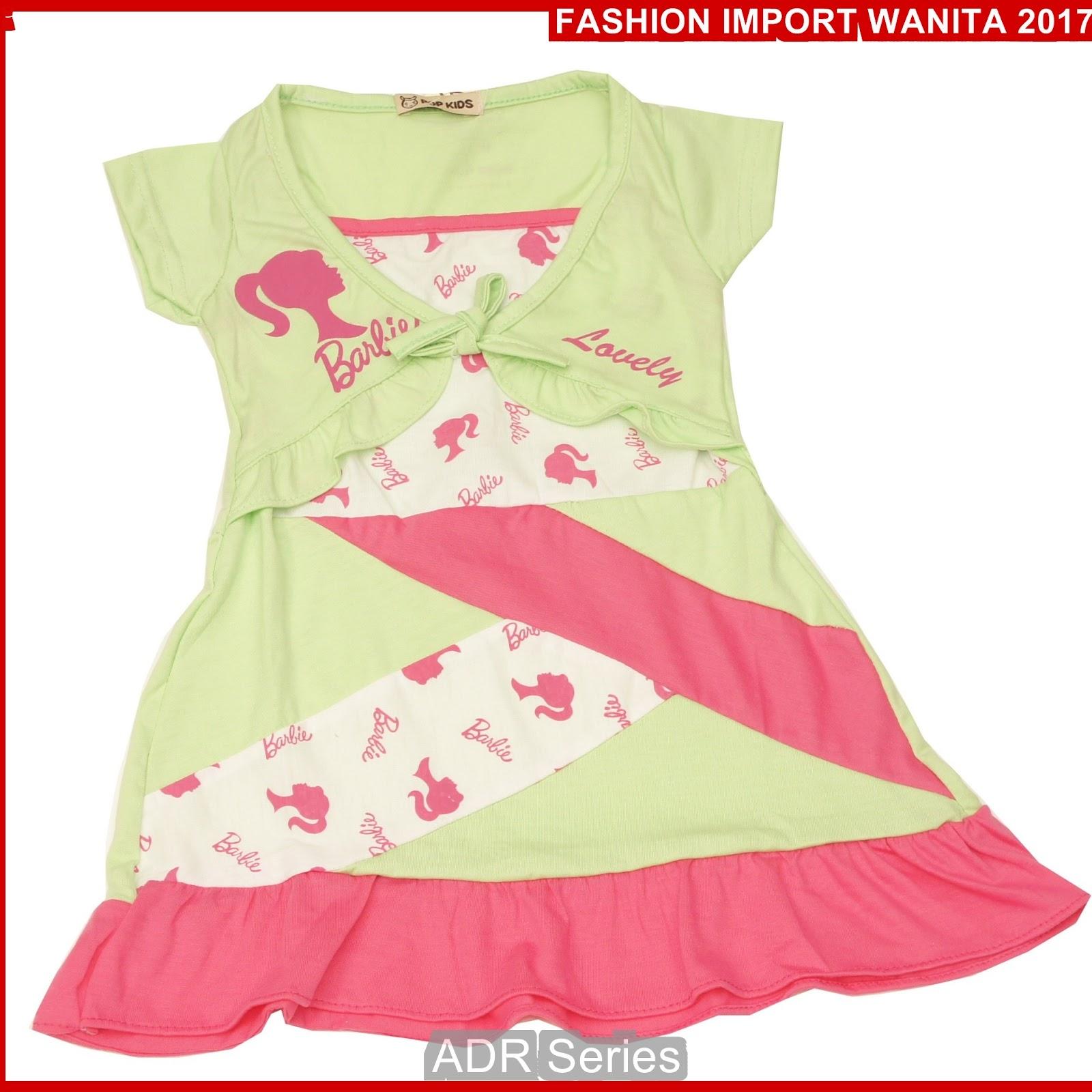 ADR173 Dress Wanita Hijau Anak BB Import BMGShop