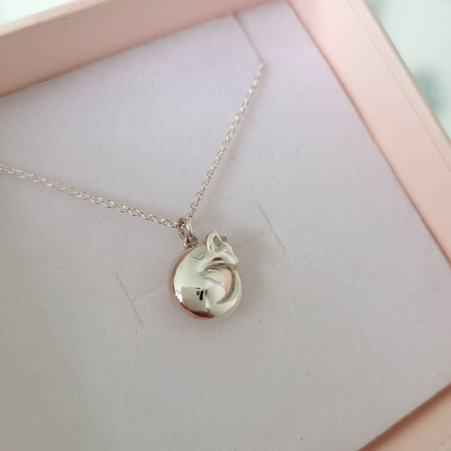 Jana Reinhardt Curled Sleeping Cat Pendant Hand Carved in Sterling Silver on Sterling Silver Chain