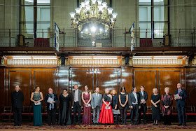 The Grange Festival International Singing Competition - the finalists with the Judges - (Photo Robert Workman)