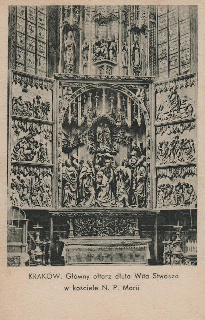 Kraków. Główny ołtarz dłuta Wita Stwosza w kościele N. P. Marii