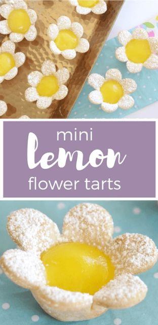 Mini Lemon Flower Tarts