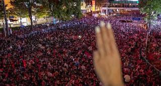 Demonstran Kembali Kuasai Bangkok, Pantang Menyerah Meski Para Pemimpin Aksi Ditangkap