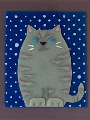 How to Paint Enamel Fused Glass Cat 2 CFE Sharon Warren Glass sharonwarrenglass flutterbybutterfly