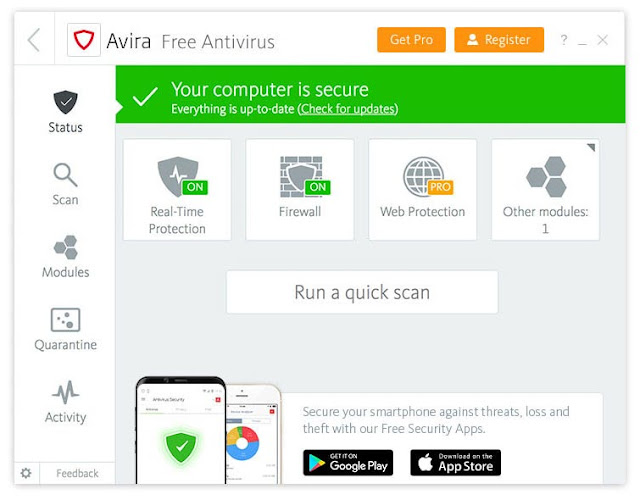تحميل افيرا انتي فايروس 2021 للكمبيوتر ويندوز 10 8 7