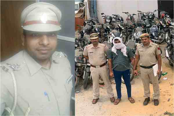 inspector-satyendra-rawal-cia-sohna-arrested-lutera-azad-news
