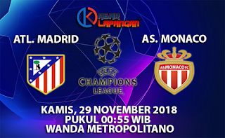 Prediksi Bola Atletico Madrid vs AS Monaco 29 November 2018