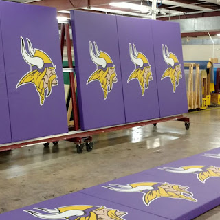 Greatmats Gym Wall Pads Minnesota Vikings logo