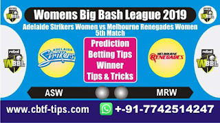 Who will win Today, WBBL T20 2019, 5th Match ASW vs MRW