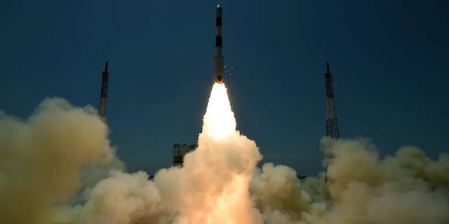 PSLV-C33 liftoff. Credit: ISRO
