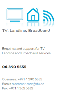 du tv landline broadband customer care phone number