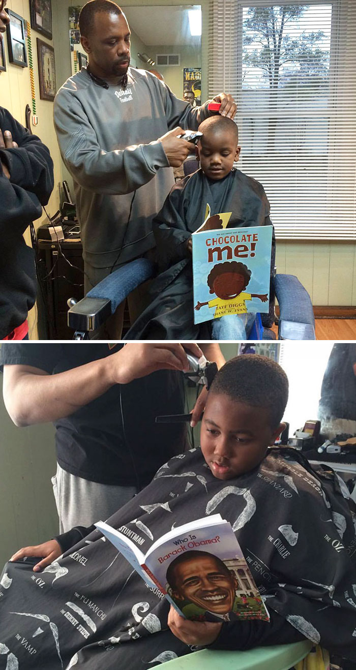 40 Times 2016 Restored Our Faith In Humanity - This Barbershop Will Return Money To Kids On One Condition – If They Read Out Loud