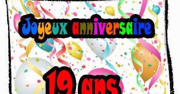 anniversaire de mon fils 19 ans