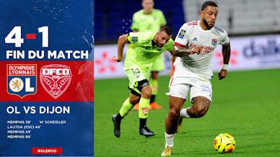 ملخص واهداف مباراة اولمبيك ليون ضد ديجون (4-1) بـ الدوري الفرنسي