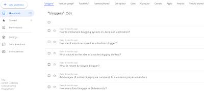 Google Question Hub