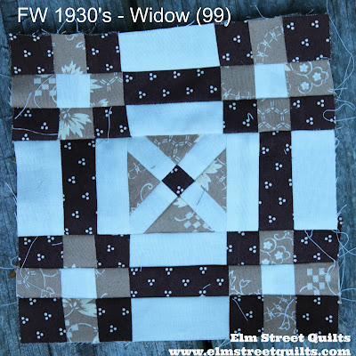 Farmer's Wife 1930 Widow block 99