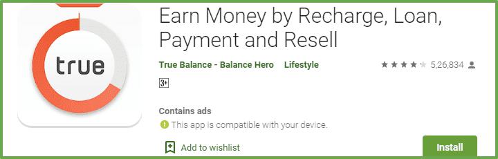 paisa kamane ka app truebalance