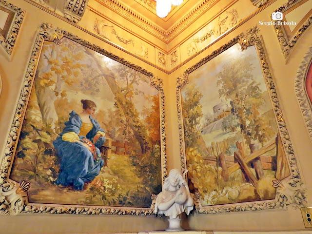 Palacete Rosa - Fotocomposição com afrescos
