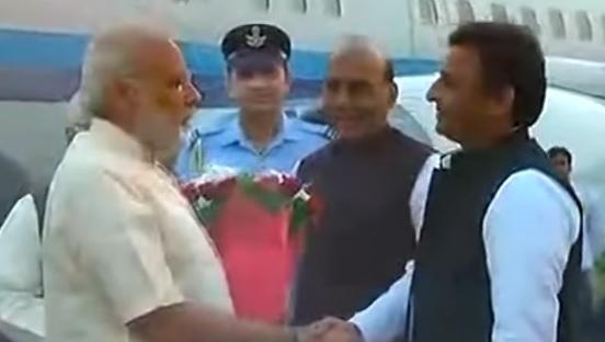 PM से मिले UP के CM अखिलेश यादव, बोले आम आदमी की चिंता करते हैं मोदी