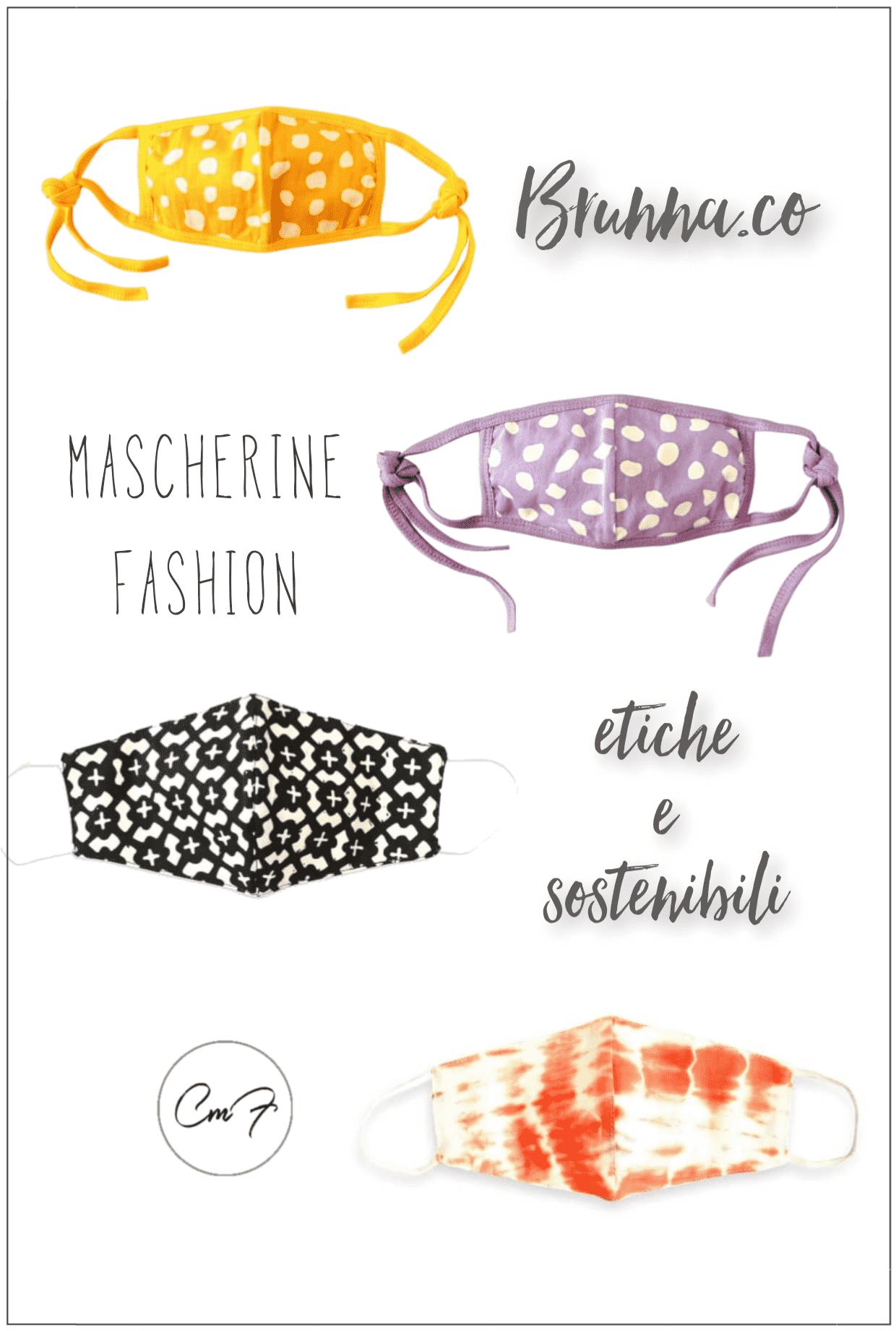 mascherine fashion e sostenibili di brunnaco