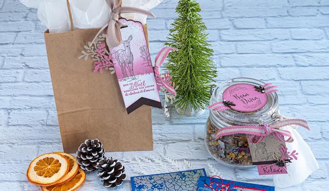 Cadeaux faits main décorés avec les étampes Nature's Beauty Stampin' Up!