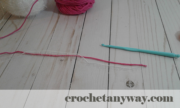 hold cotton and scrubby yarn together
