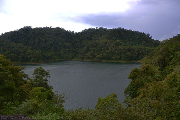 Lake Balinsasayao from the view deck